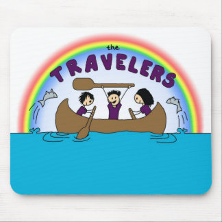 Arco iris Mousepad de los viajeros Tapetes De Ratones