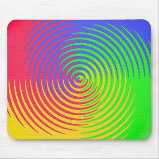 Arco iris Mousepad espiral Tapetes De Ratones