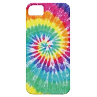 Arco iris multicolor del teñido anudado del remoli iPhone 5 Case-Mate carcasas