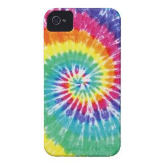 Arco iris multicolor del teñido anudado del remoli Case-Mate iPhone 4 cárcasas