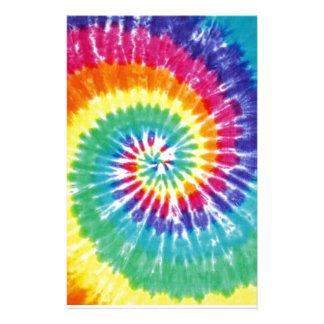 Arco iris multicolor del teñido anudado del remoli papelería personalizada