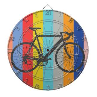 Arco iris multicolor rayado de la bici
