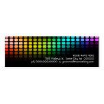 arco iris musicmeterz. tarjetas de visita mini