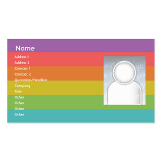 Arco iris - negocio tarjetas de visita