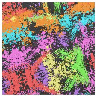 Arco iris negro salpicado telas