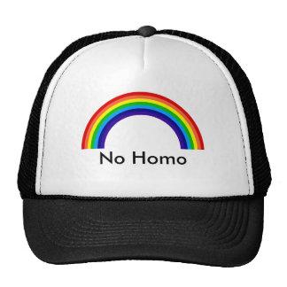 arco iris, ningún homo gorros bordados