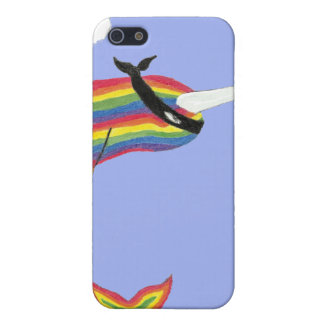 Arco iris Ninja Narwhal iPhone 5 Carcasa