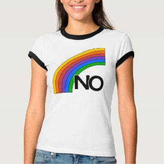 "Arco iris ""NO"" camiseta Playeras"