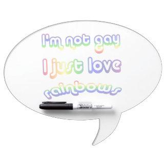 Arco iris no gay divertidos del amor de I Pizarras Blancas