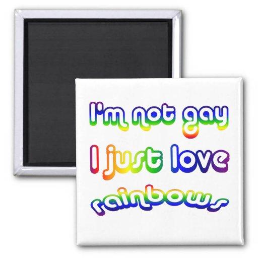 Arco iris no gay sino del amor imán cuadrado