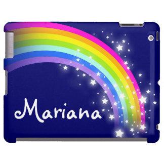 Arco iris nombrado en el caso del ipad de la marin funda para iPad