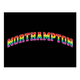 Arco iris Northampton Tarjeta Postal