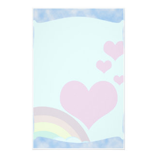 Arco iris nublado papelería