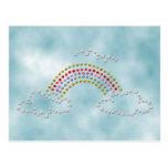 Arco iris nublado tarjetas postales