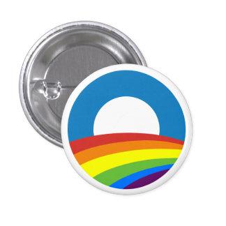 Arco iris Obama 2012 del orgullo gay Pin Redondo 2,5 Cm