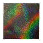 Arco iris olográficos del brillo de las luces bril tejas