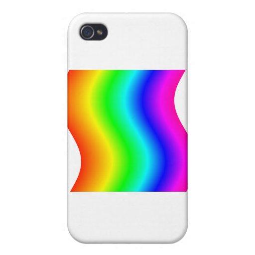 Arco iris ondulado #3 iPhone 4 carcasa