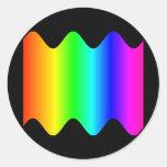 Arco iris ondulado pegatinas redondas