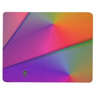 Arco iris Origami, remolinos abstractos de la Cuaderno Grapado