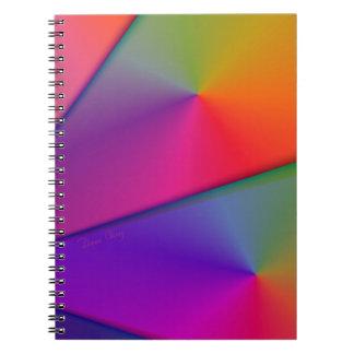Arco iris Origami - remolinos del añil y de la Cuaderno