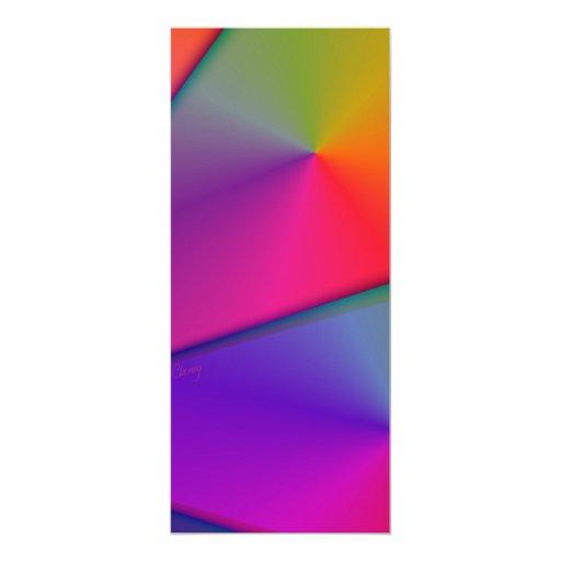 """Arco iris Origami - remolinos del añil y de la Invitación 4"""" X 9.25"""""""