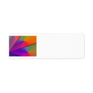 Arco iris Origami - remolinos del añil y de la mag Etiquetas De Remite