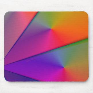 Arco iris Origami - remolinos del añil y de la mag Alfombrilla De Ratones