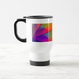 Arco iris Origami - remolinos del añil y de la mag Tazas