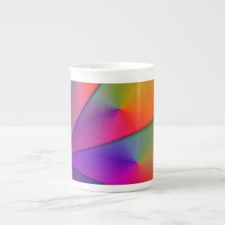 Arco iris Origami - remolinos del añil y de la mag Tazas De China