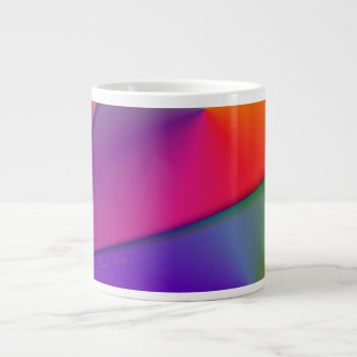 Arco iris Origami - remolinos del añil y de la mag Tazas Extra Grande