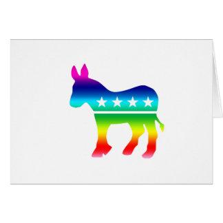 Arco iris original del burro de Demócrata Tarjeta De Felicitación