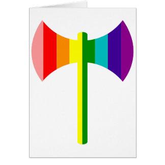 Arco iris original Labrys Tarjeta De Felicitación