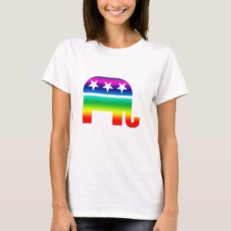 Arco iris original republicano del elefante playera