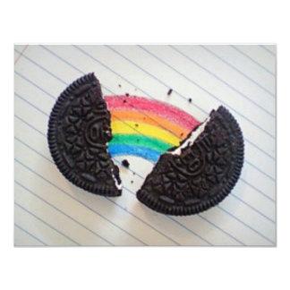 """arco iris Orio Invitación 4.25"""" X 5.5"""""""