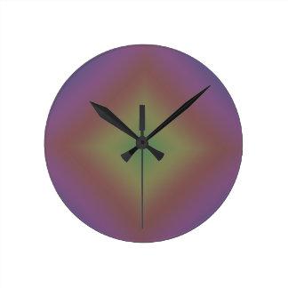 Arco iris oscuro relojes de pared