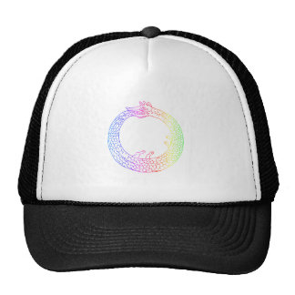 Arco iris Ouroboros Gorras De Camionero