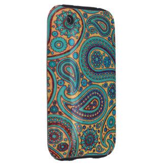 Arco iris Paisley iPhone 3 Tough Coberturas