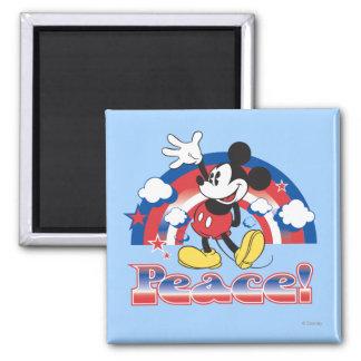 Arco iris patriótico de la paz de Mickey el | del Imán Cuadrado