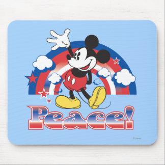 Arco iris patriótico de la paz de Mickey el | del Tapete De Ratón