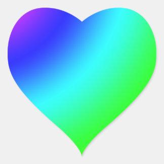 Arco iris pegatina en forma de corazón