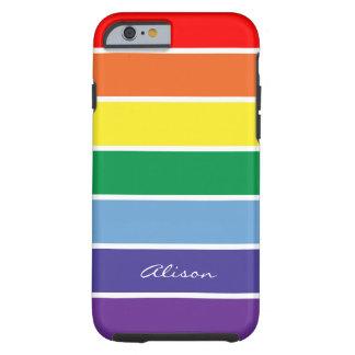 Arco iris personalizado Brite Funda De iPhone 6 Tough