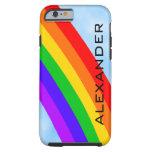 Arco iris personalizado funda de iPhone 6 shell