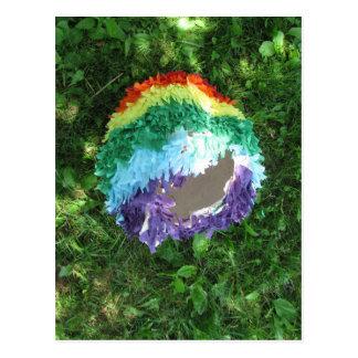 Arco iris Piñata después del fiesta Postales