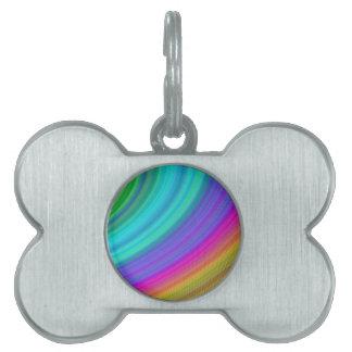 Arco iris placas mascota