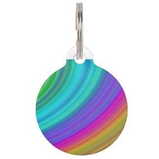 Arco iris placas de mascota