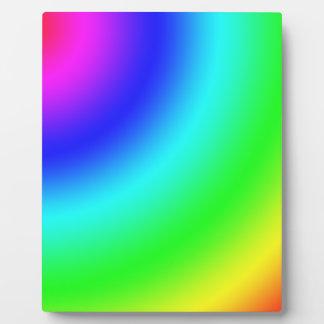 Arco iris placas con fotos
