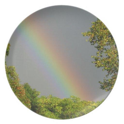 arco iris plato de cena
