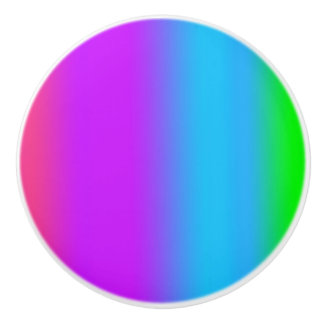 Arco iris pomo de cerámica