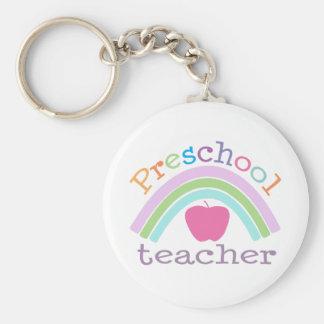 Arco iris preescolar del profesor llavero personalizado