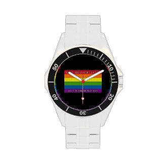 Arco iris - protesta de Sochi - cuando vienen para Reloj De Mano